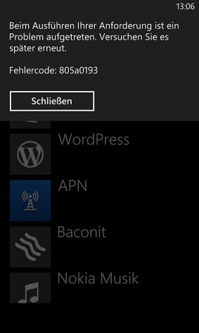 windows phone store fehlercode