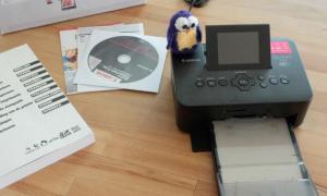 Canon Selphy CP 900 Pocket Printer Test Header