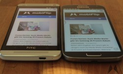 Display Samsung Galaxy S4 vs. HTC One IMG_2330
