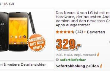 nexus 4 329 euro saturn