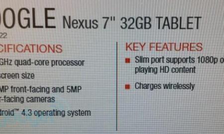 nexus 7 leak specs