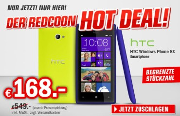 HTC 8X hot deal redcoon