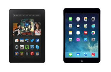 Amazon Kindle Fire HDX Apple iPad Air Header