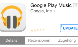 Google Play Music iOS Update
