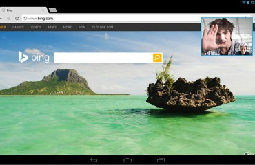 Skype Android Tablets Bild-In-Bild