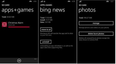Windows Phone 8.1 SD-Karte Photos