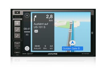 Alpine CarPlay Mockup