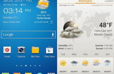 Wetter und Uhrwidget 2