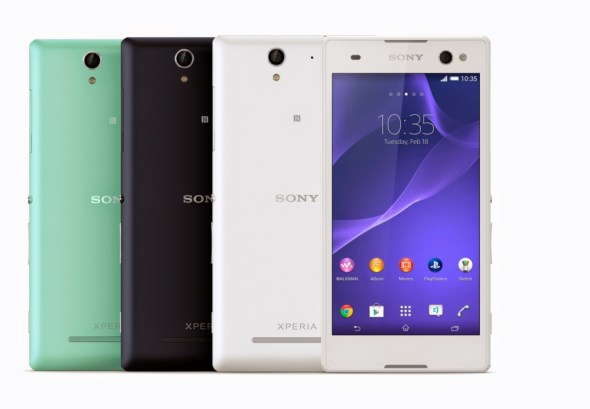 1_Xperia_C3_Group_Colours_Front 2