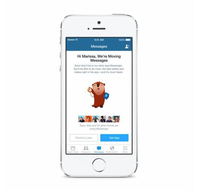 Facebook Messenger iOS Hinweis