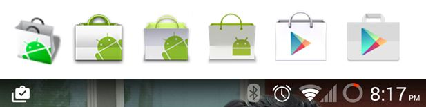 Play Store 5.0 Neue Icons