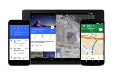 Google Maps Geräte Header