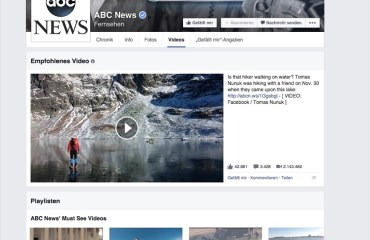facebook pages video