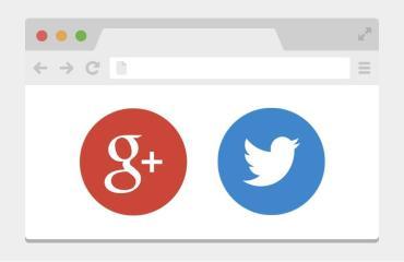 twitter google plus