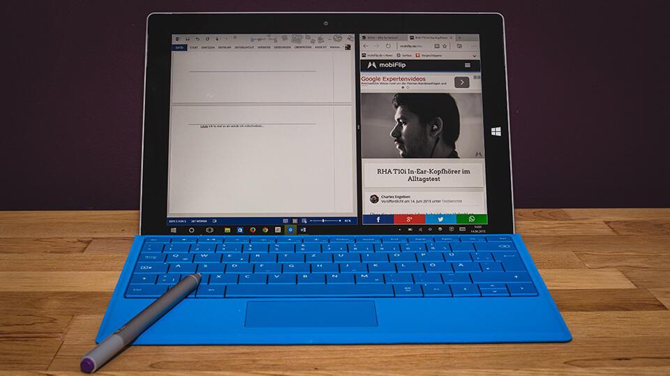 Microsoft Surface 3 ausprobiert
