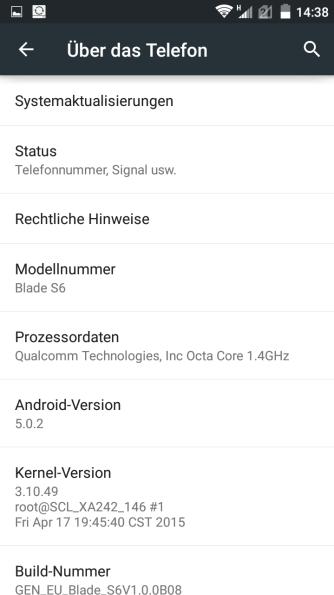 ZTE Blade S6 screenshot 6