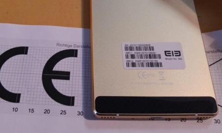 Elephone M2 Zoll China CE Label
