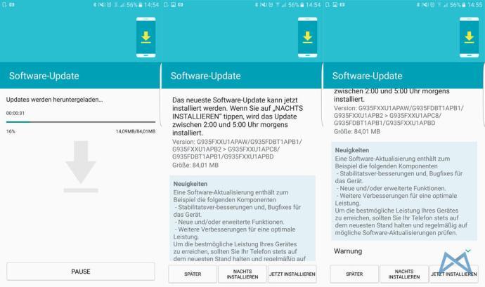 Samsung Galaxy S7 Update