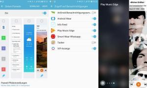 Galaxy S7 Edge Seitenpanel Play Music