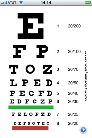 Study Smartphone-based eye chart apps not as reliable as standard