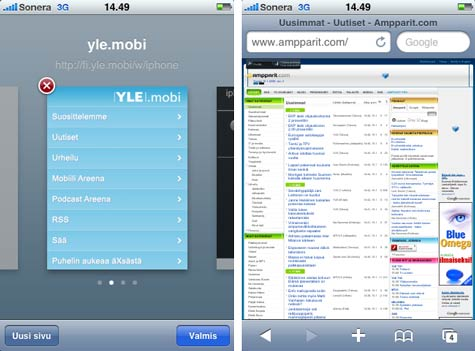 iPhone 3G Safari