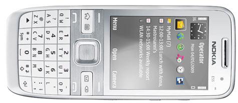 Nokia E55 hopea