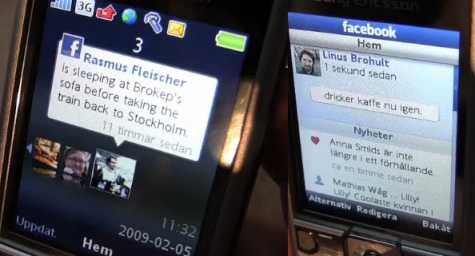 Sony Ericsson C510 Facebook