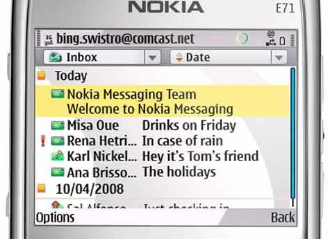 E71 Nokia Messaging