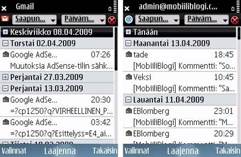 E75 sähköposti