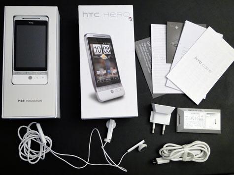 HTC Hero pakkaus