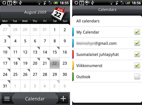 HTC Hero Sense kalenteri