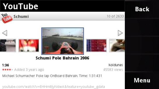 Satio YouTube-sovellus
