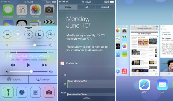 iOS 7, UI
