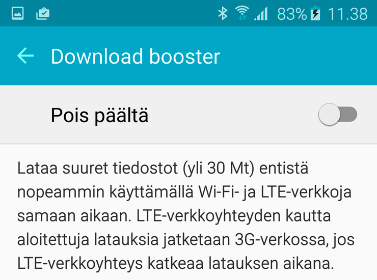 Galaxy S6 Download Booster