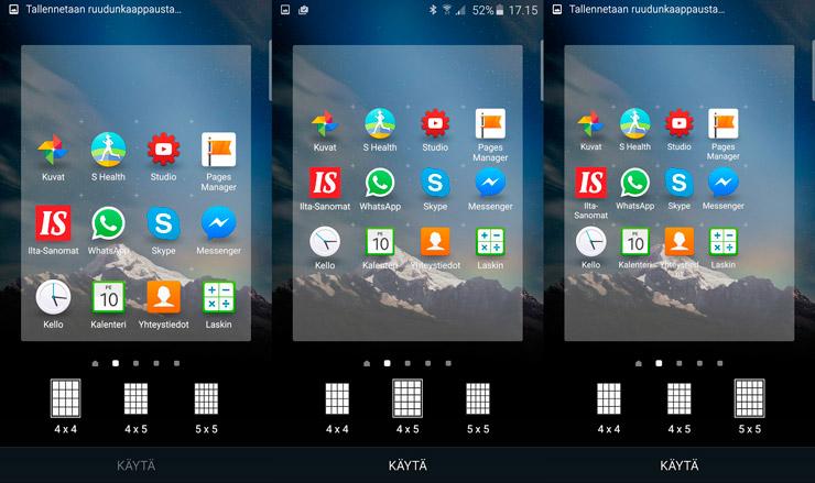 Galaxy S6 ruudut