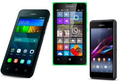 Huawei Y5, Lumia 435 ja Xperia E1