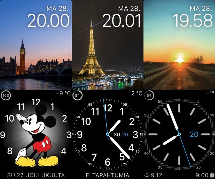 Apple Watch, kellotaulut