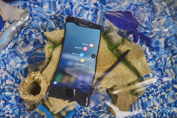 Galaxy Note7 vedenkestävä