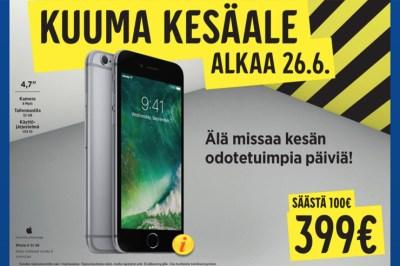 iPhone 6, 399 euroa