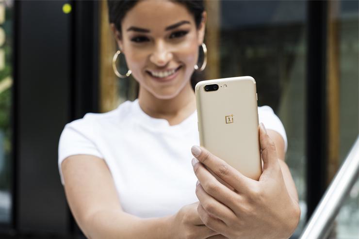 OnePlus 5 Soft Gold, kultainen