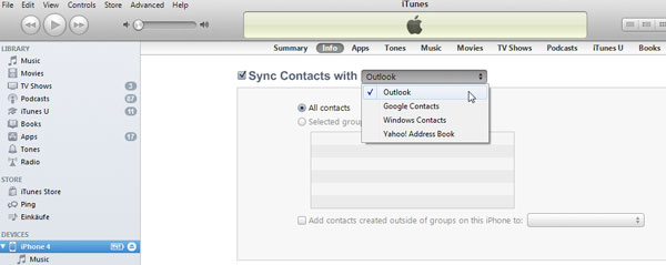 How to Sync iPhone Contacts with Outlook/Facebook?