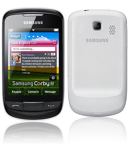 Samsung S3850 Corby II White