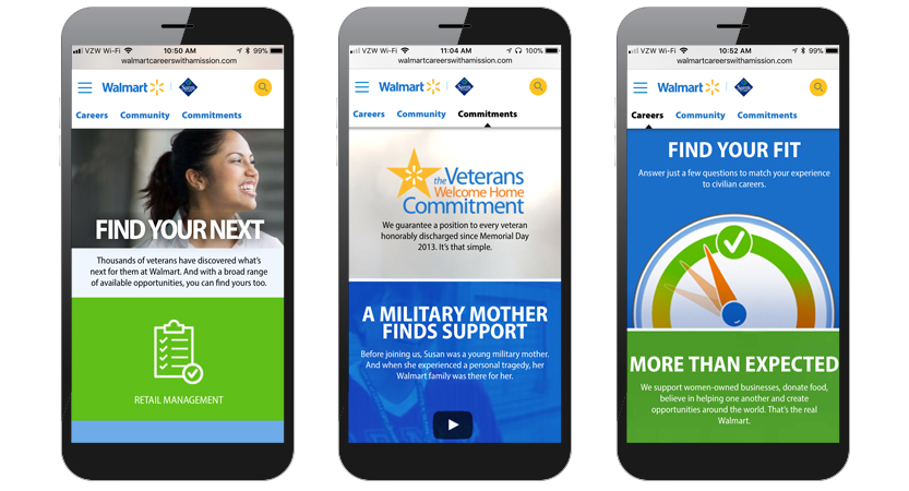 Best Military Mobile Websites and Apps MobileWebAwards - walmart careers