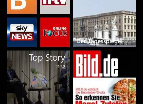 News-Apps für Windows Phone