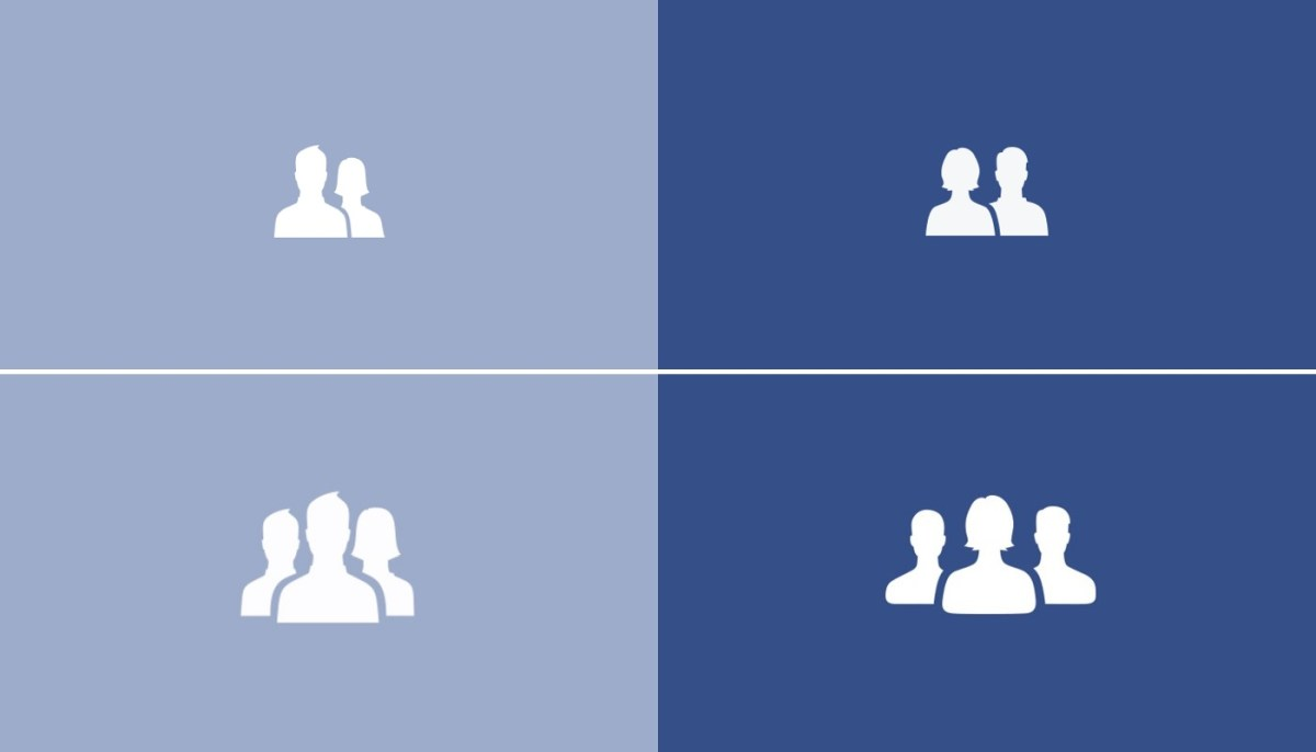 Facebook made a subtle but significant changes to 'friends' and 'groups' icons