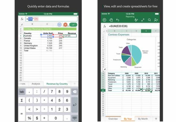 Spreadsheet AppCarry your work on your iPad and iPhone