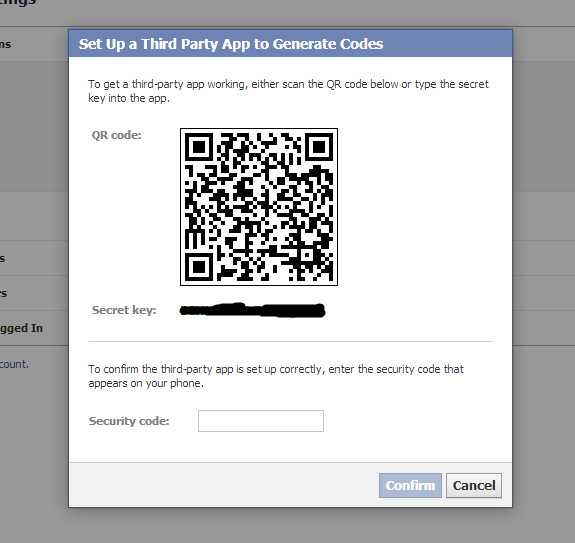 Secure your Facebook account-Setup a Third Party App to Generate Code