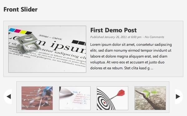 Front Slider wordpress plugin