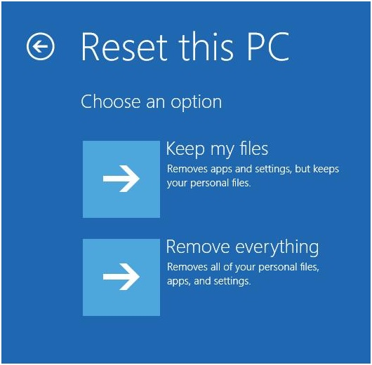 How to Factory Reset Laptop in Windows 10/8/7
