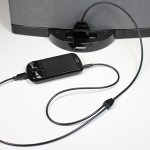 CableJive dockBoss+ connects the iPhone 5 to 30 pin speaker docks